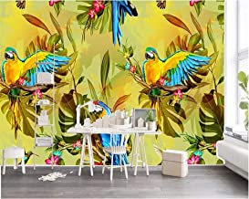 Mural Wallpaper Customize 4D Wall Decoration,Beautiful Southeast Asian Style Retro Hand-Painted Flowers And Birds Decorative Wallpaper For Bedroom Living Room Dining Room Wallpaper-100In×144In 250Cm(