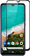 Doubledicestore Edge to Edge 6D Curved Full Tempered Glass Screen Guard for mi a3 (Black)