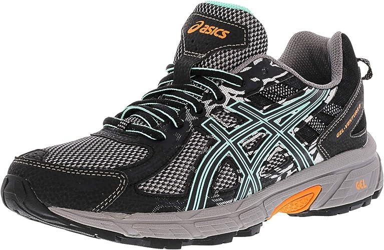 ASICS Gel-Venturer 6 noir Ice vert Orange Wohommes Running chaussures