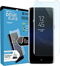 Galaxy S8 Plus Screen Protector, [Dome Glass] Full Coverage 3D Curved Tempered Glass Shield [NO UV Light Included] Easy Install by Whitestone for Samsung Galaxy S8+ (2017) - Replacement Only