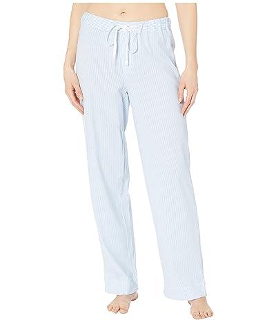 LAUREN Ralph Lauren Cotton Polyester Jersey Separate Long Pants (Blue Stripe) Women
