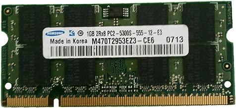 Samsung PC2-5300S M470T2953EZ3-CE6 1GB DDR2 Memory for Samsung Laptop.