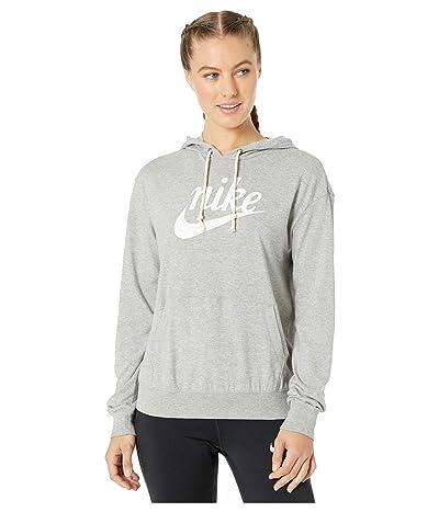 Nike NSW Gym Vintage Hoodie HBR (Dark Grey Heather/Sail) Women