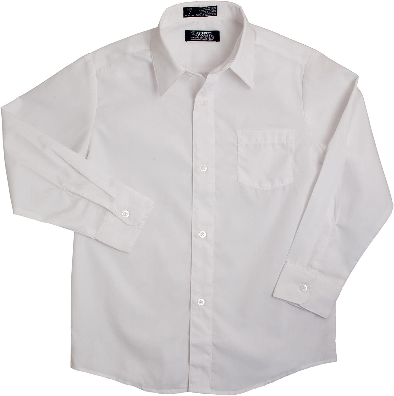 French Toast School Uniform Boys Long Sleeve Classic Dress Shirt, White, 4