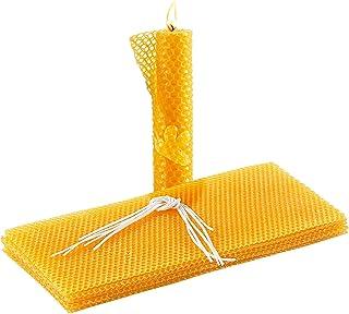 Your Design Bienenwachsplatten: 6 Bienenwachs-Platten zum Kerzen-Gestalten, 300 x 133 mm Bienenwachskerzen