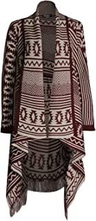 Pink Wind Women's Irregular Draped Open Front Knitted Cardigan Sweater