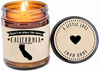 California Scented Candle State Candle Homesick Gift No Place Like Home Thinking of You Holiday Gift