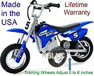 Adjustable Motorcycle Training Wheels for Razor MX350 and MX400 ONLY