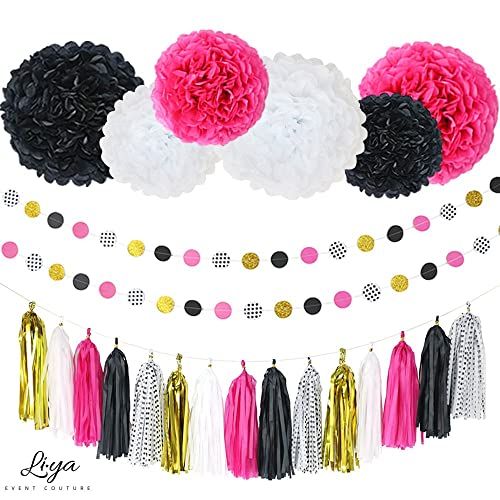 Black Pink And Gold Party Decorations Amazon