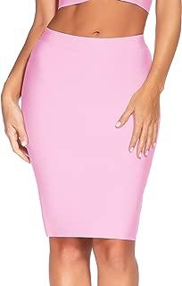 Women's Bandage Skirt Elastic Fishtail Knee Length Midi Club Skirts