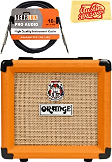 Orange PPC108 1x8-Inch Closed-Back Speaker Cabinet Bundle with Instrument Cable and Austin Bazaar Polishing Cloth