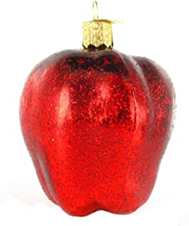 Old World Christmas Ornaments: Fruit Selection Glass Blown Ornaments for Christmas Tree, Red Delicious Apple
