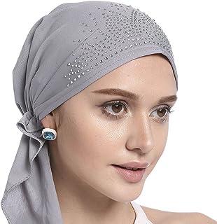 Crystal Chemo Hat Woman's Stretchy Beanie Bandana Turban Cap Skull Cap Head Wrap Headscarf for Cancer,Alopecia Hair Loss