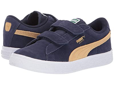 Puma Kids Suede Classic V (Little Kid) (Peacoat/Taos Taupe) Boys Shoes