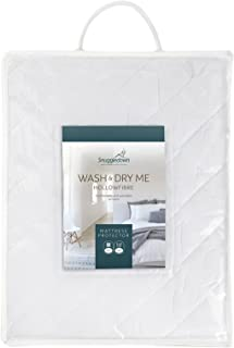 Snuggledown Wash and Dry Me 床垫保护罩 白色 Single 8600SNG01