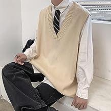 ileibmaoz Trui Sweatshirt Trui Vest Mannen Mode Retro Casual Gebreide Trui Mannen Wild Losse Breien Truien Heren Kleding