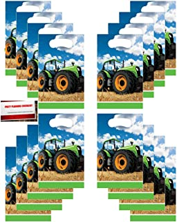8 Pack ON THE FARM TRACTOR LOOT PARTY BAG Birthday Plastic Gift Treat Sweet