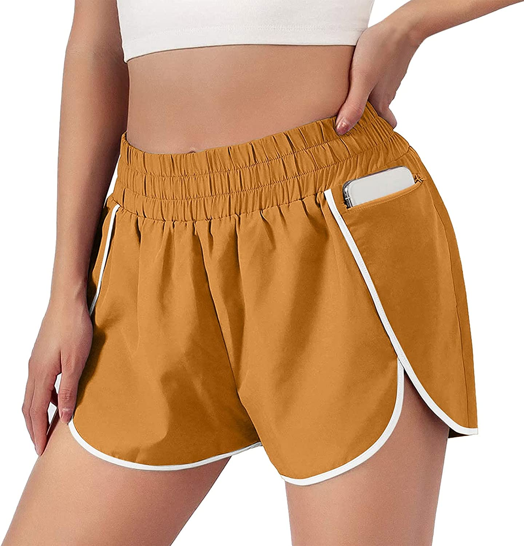 HCNTES Womens Shorts for Summer,Women's Printed Drawstring Sweat Shorts Comfy Casual Summer Elastic Waist Beach Shorts