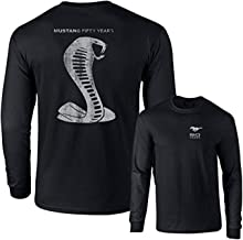 Mustang 50 Years Ford 50 Shelby Gray Snake Long Sleeve TEE F & B