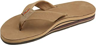 Rainbow Sandals Men's Premier Leather Double Layer with Arch Wide Strap Brown Size: Large / 9.5-10.5 D(M) US
