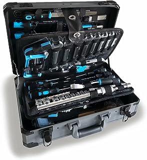WZG Werkzeug 102 Piece Hand Tool Set Mechanics Kit Including Spanner &Socket Set - Ideal for Workshop & Garage