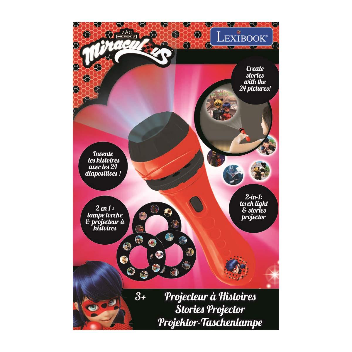 Lexibook Lexi Disney, Prodigiosa Ladybug, Miraculous-Linterna de ...
