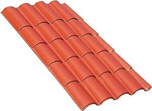 tejas Techo placas de cobertura termoplastiche de un acabado Natural, similar AL De Una cobertura tradicional en coppi de laterizio.