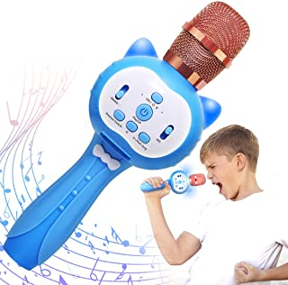 CHOYUE Wireless Karaoke Machine for Kids,Best Toy Gift for 3-12 Year Old Girls Boys(Blue)