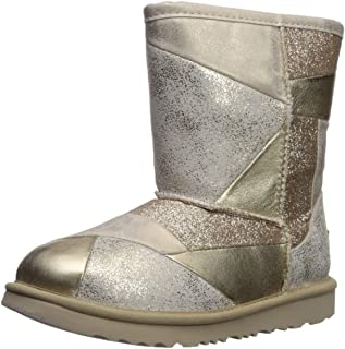UGG Enfants - Classic Short II Patchwork Boot Gold