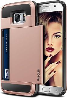 Galaxy S7 Case, Vofolen Slidable Card Holder Galaxy S7 Wallet Case Card Slot ID Pocket