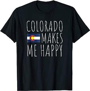 Colorado Makes Me Happy Flag T-Shirt