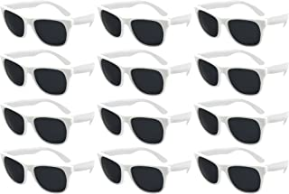 Edge I-Wear 12 Bulk 80s Neon Party Sunglasses for Adult Party Favors with CPSIA certified-Lead(Pb) Content Free 5402RA