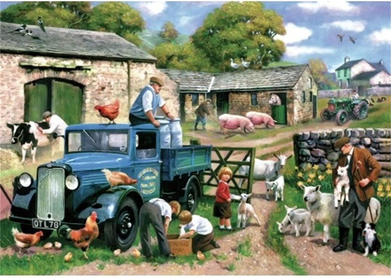 Wentworth Spring Farm Wooden 250 Piece Jigsaw Puzzle 442408 9.8 Inches x 14.17 Inches
