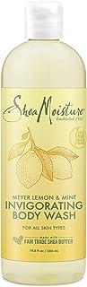 SheaMoisture Invigorating Body Wash for All Skin Types Invigorating Lemon Mint Cruelty Free Skin Care, Made with Fair Trad...