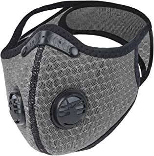 WISREMT Cycling Face Mask, Nylon Spandex Activated Carbon Windproof Dust-Proof Lightweight Breathable Quick Dry Outdoor Sportswear Mask