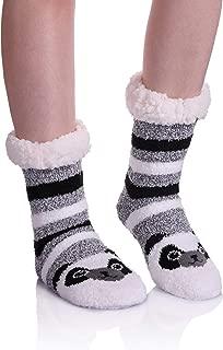 Women's Home Slipper Socks Cute Animals Fuzzy Soft Warm Fleece Lined Knit Winter Socks