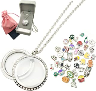 locket necklace charms inside