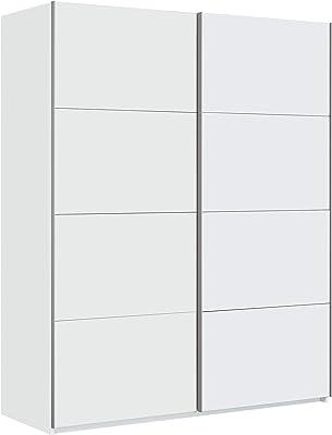 Habitdesign Armario Ropero, Dormitorio, Armario 2 Puertas correderas, Modelo Hera, Acabado en Color Blanco Artik, Medidas: 150 cm (Ancho) x 200 cm (Alto) x 60 cm (Fondo)