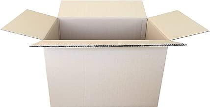 Pack de 10 Cajas de Cartón de Canal Doble y Color Marrón. Tamaño 60 x 40 x 40 cm. Mudanzas. Fabricadas en España. Normativa AFCO. Cajeando