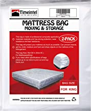 Mattress Bags for Moving and Storage,2 Packs Waterproof Mattress Protecting Bag,Thick 4 Mil King Mattress Bag, Mattress St...