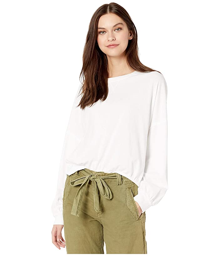 Free People  213 Tee (White) Womens Clothing