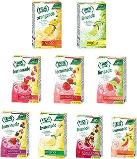 True Lemon STRAWBERRY, WILDBERRY, LIMEADE, WATERMELON, BLACK CHERRY, MANGO ORANGE, PEACH, LEMONADE, RASPBERRY (Pack of 9) ...