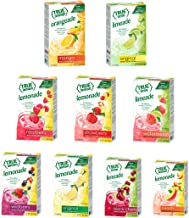 True Lemon STRAWBERRY, WILDBERRY, LIMEADE, WATERMELON, BLACK CHERRY, MANGO ORANGE, PEACH, LEMONADE, RASPBERRY (Pack of 9) 10ct each box. True Citrus Sample Kit of Lemonade and Limeade.