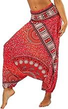 Lvguang Pantalones De Estilo Hippie De Los Mujer De La Vendimia del Estilo Nacional Pantalones Holgados Bombachos Ocasionales del Hippie