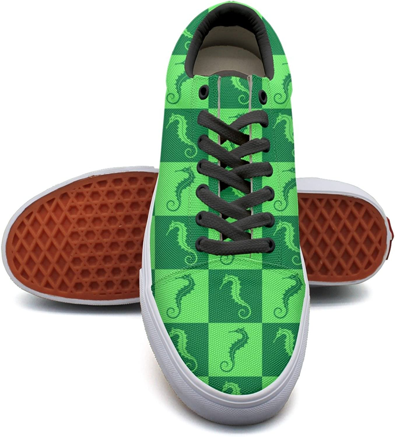Green Seahorse Case Womens' Casual Sneakers shoes Canvas Cool New Original