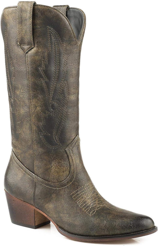 Roper Women's Nettie Western Boot Medium Toe Brown 6.5 M