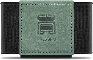 Compact Slim Wallet Minimalist Front Pocket Wallet for Men Women Elastic Card Holder (Green)