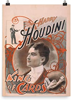 Vintage Poster - Harry Houdini, King of Cards 1788 - Enhanced Matte Paper Poster (18x24)