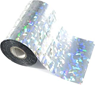 Silver Cracked Ice Bright Holographic Toner Reactive Craft Foil - Large 4