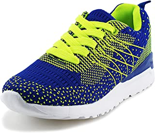 Wayee Kids Walking Shoes Boys Girls Breathable Lace Up Knit Sneakers